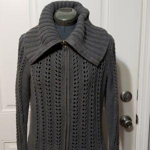 DKNYC open weave sweater jacket